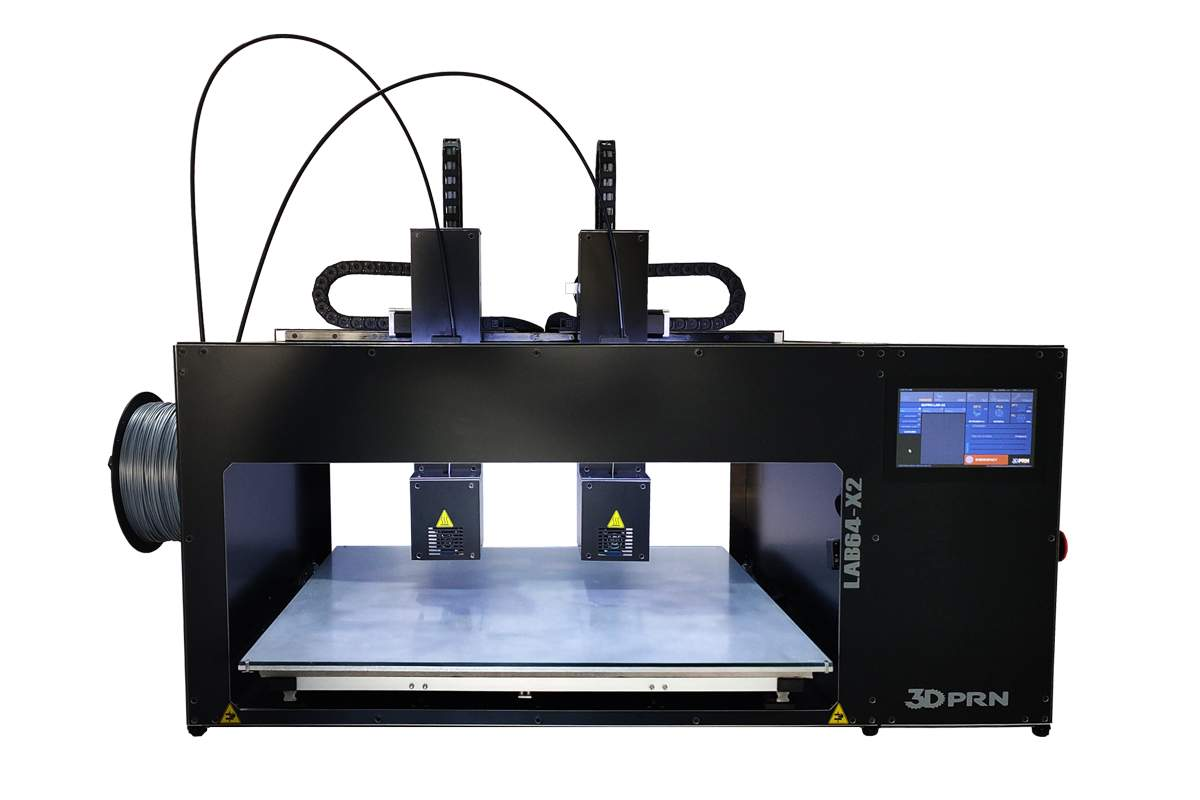 LAB X2 - INDEPENDENT AXES - Professional 3DPRN 3D printer with touch screen