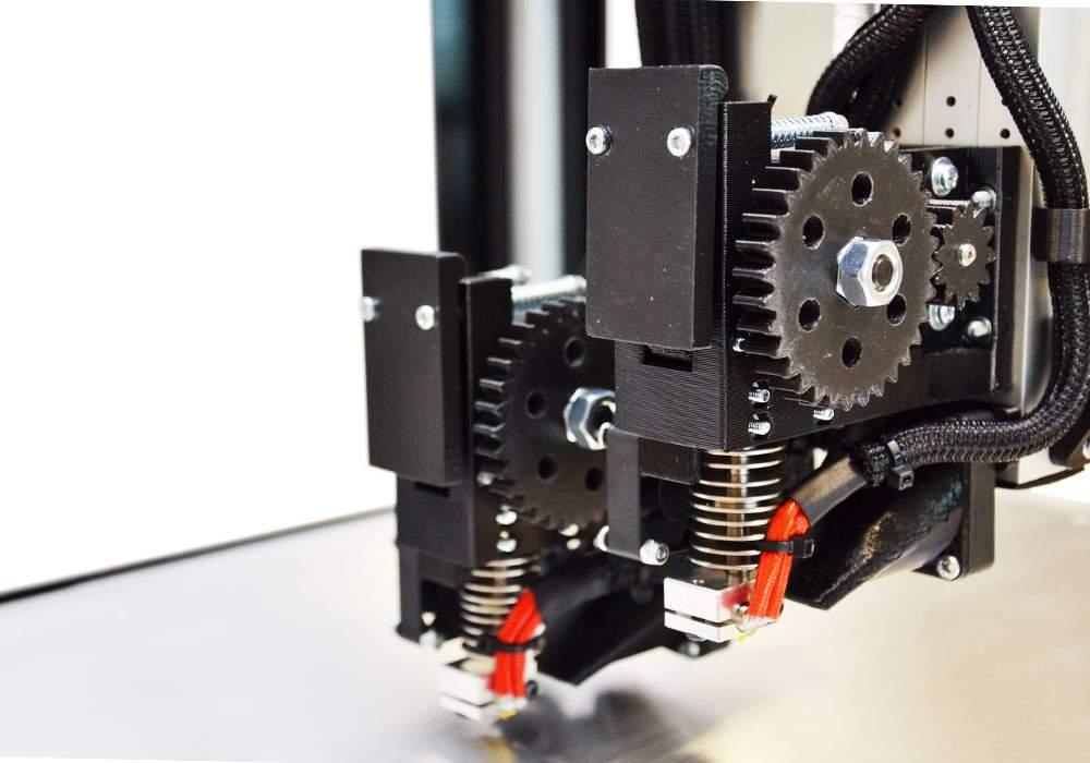 Stampante 3d Lab x2 dettaglio estrusori