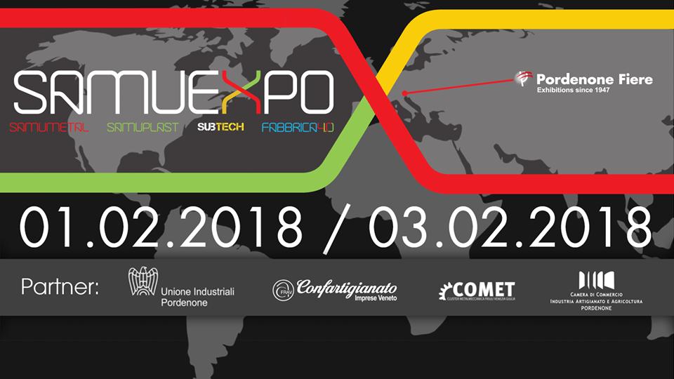 Evento SamuExpo 2018 presso Pordenone Fiere dall' 01 al 03 Febbraio