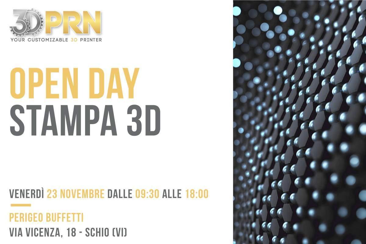 Open Day stampa 3D presso Perigeo Buffetti 23 Novembre 2018