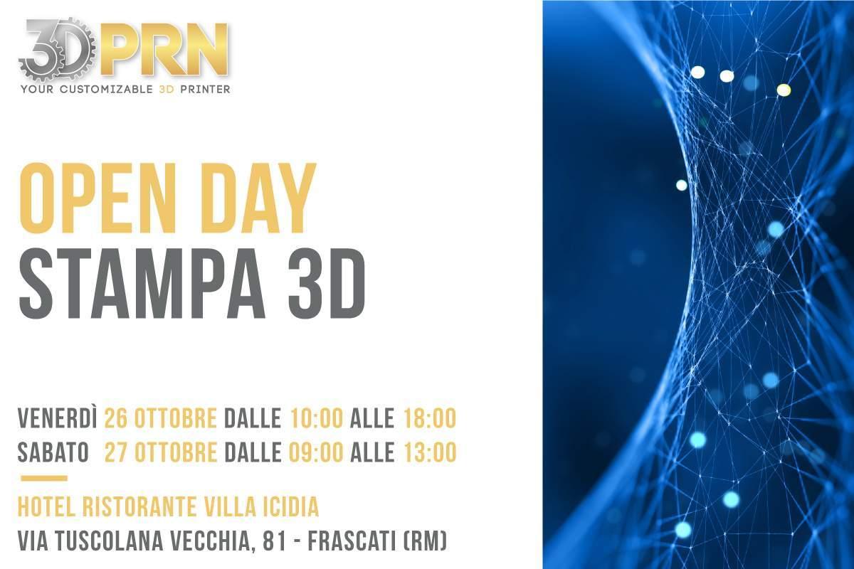 Open Day stampa 3D presso Hotel Villa Icidia Frascati dal 26 al 27 Ottobre 2018