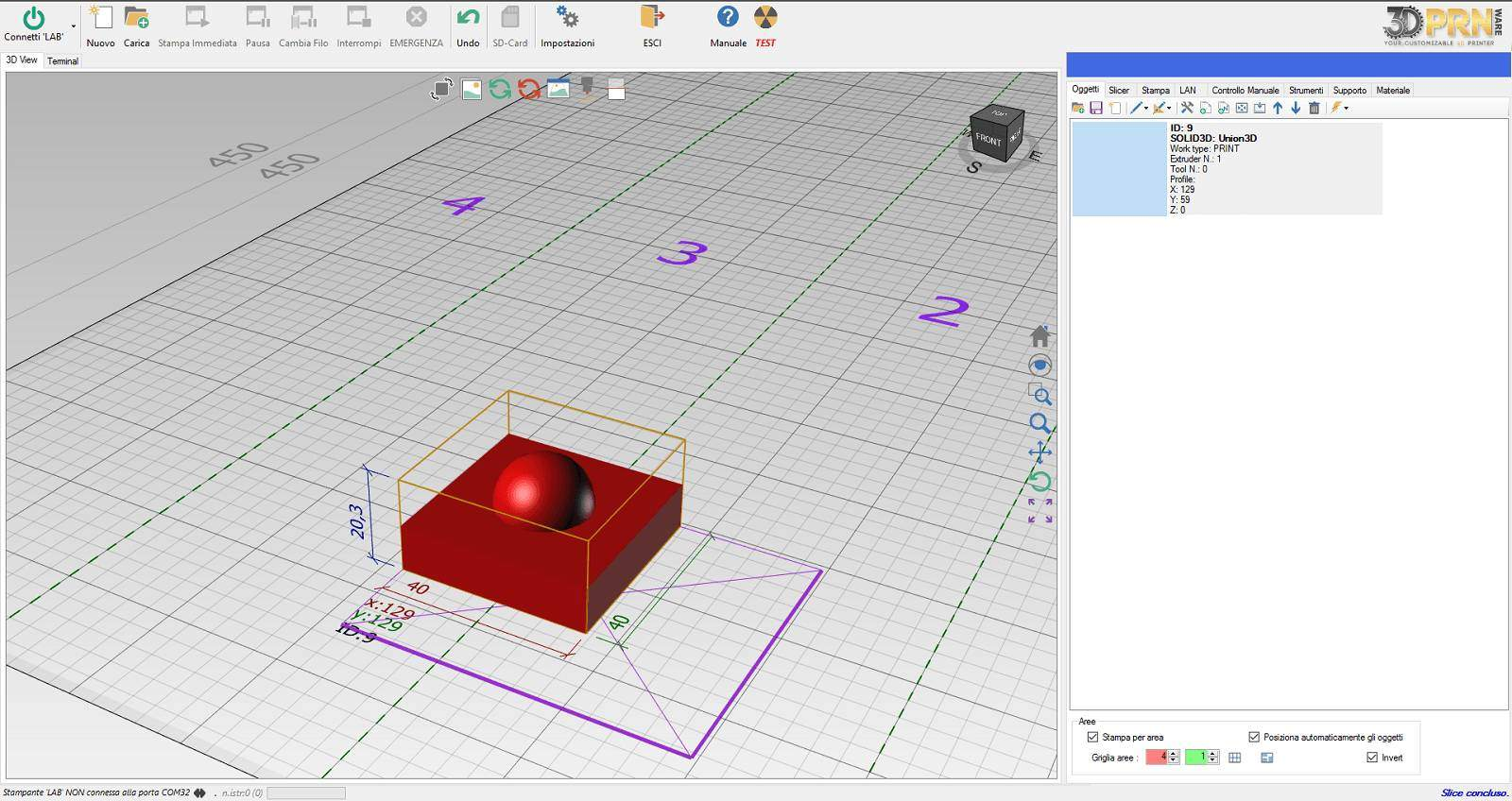 Software owner of 3DPRN for 3D printing