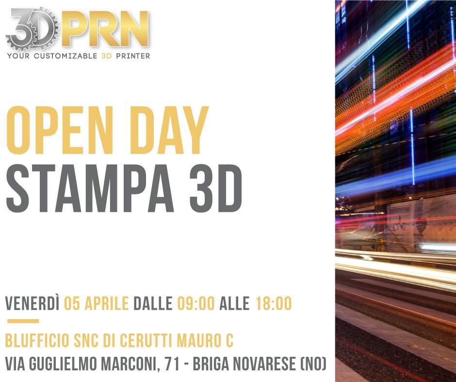 Open Day Stampa 3D_ Blufficio Snc di Cerutti Mauro C